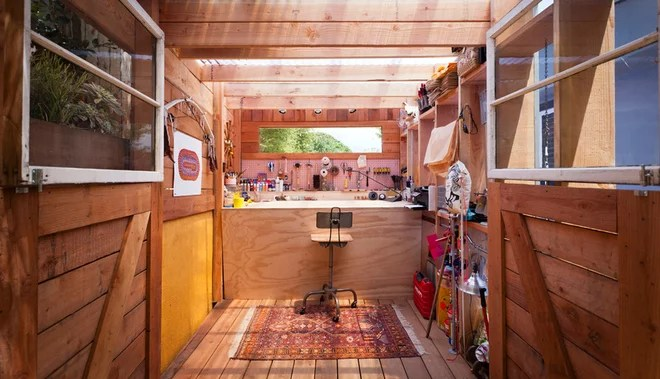 Contemporary Shed by Wyndhamdesign