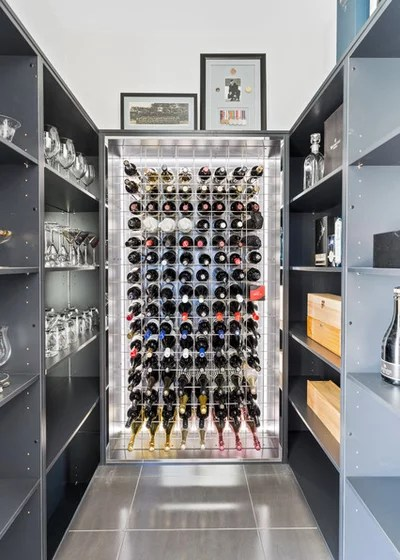 Contemporary Wine Cellar by BCI Hawker
