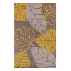 Allie Transitional Leaves Contemporary Area Rug 8'x10'