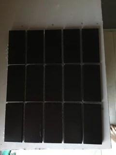matt black tiles mean endless cleaning