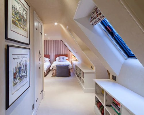 Attic Bedroom With Slanted Walls Home Design Ideas