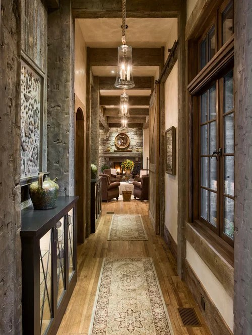 Rustic Hallway Houzz