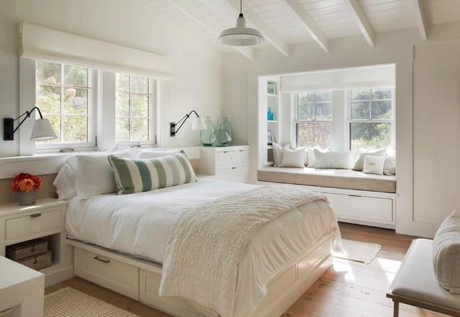 Farmhouse Bedroom by John Thayer Cabinetmakers, LLC