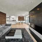 Custom Mobius Coffee Table Contemporary Living Room