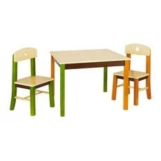 Incredible P Kolino Little One S Toddler Table And Chairs Orange Creativecarmelina Interior Chair Design Creativecarmelinacom