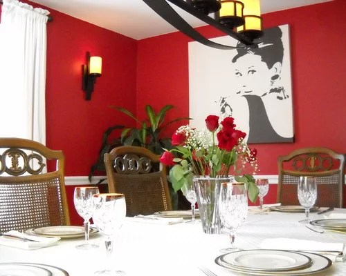 Red Dining Room Home Design Ideas, Pictures, Remodel And Decor
