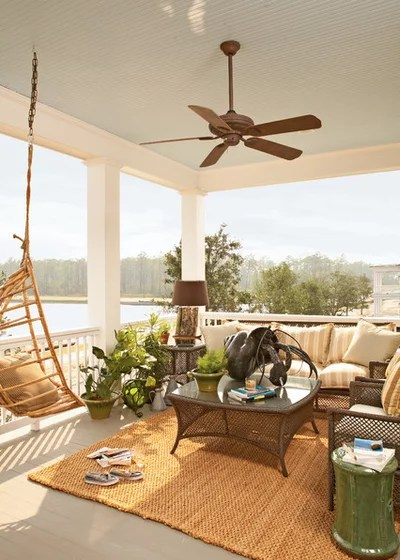 Beach Style Deck by Our Town Plans
