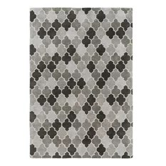 Surya Brilliance BRL2015 Grey/Black Geometric Area Rug Rectangular 5'x8'