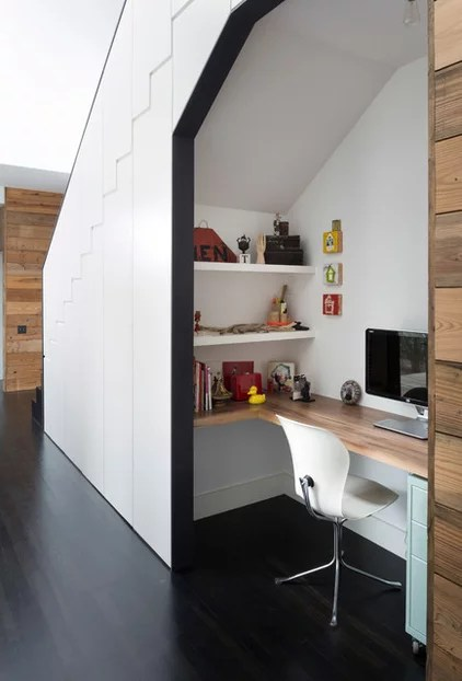 Contemporary Home Office by Risinger Homes