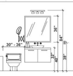 bathroom vanity mirror height