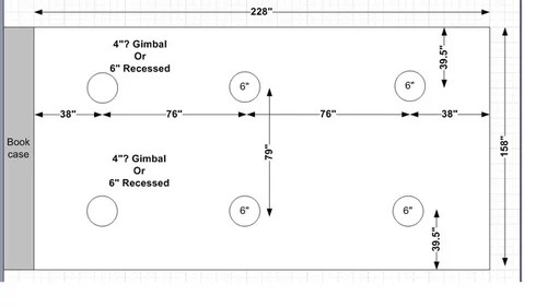 recessed lighting layout