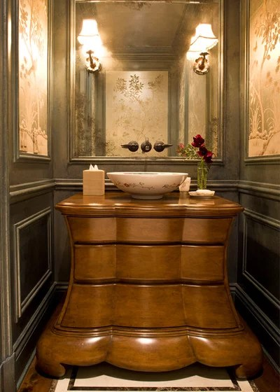 Victorian Powder Room by Harte Brownlee & Associates Interior Design