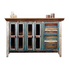 crafters and weavers reclaimed wood curio cabinet tv credenza entertainment centers and tv