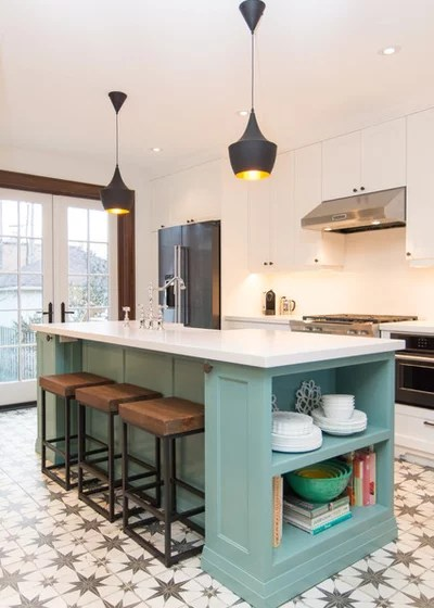 Transitional Kitchen by Inner Luxe