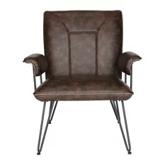 Safavieh Johannes Arm Chair Antique Brown