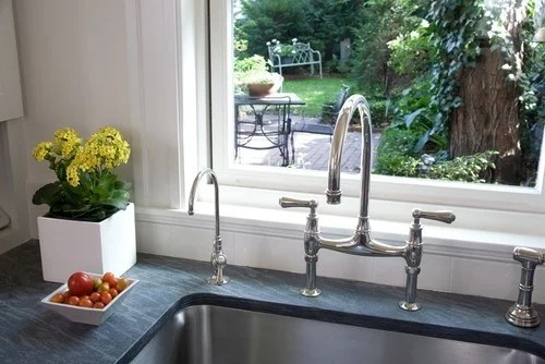 stainless steel sink with polished