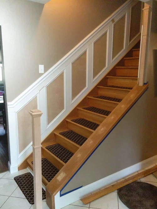 Newel Post Attachment To Top Of Cap   Attaching Handrail To Newel Post   Bolt   Fine Homebuilding   Stair Treads   Wood   Baluster