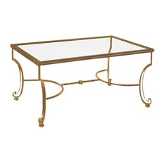 glass and wrought iron coffee tables