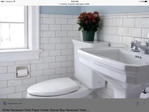 EXCLUSIVE - This toilet paper holder will help make your bathroom a beautiful stylish getaway with a sleek uncluttered design. Recessed Porcelain Ceramic Toilet Paper Holder