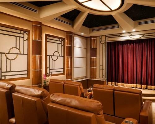 Art Deco Home Theater Houzz