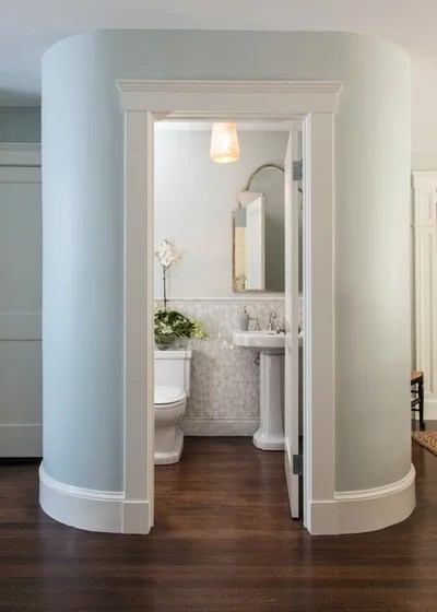 Traditional Powder Room by Roomscapes Cabinetry and Design Center