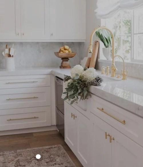 gold or matte black kitchen faucet