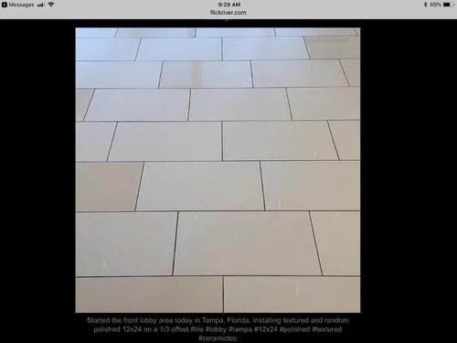 12x24 Tile Installed On A 1 3 Offset Pattern Over Ditra. Large Tile 12 X 24 1 3 Offset