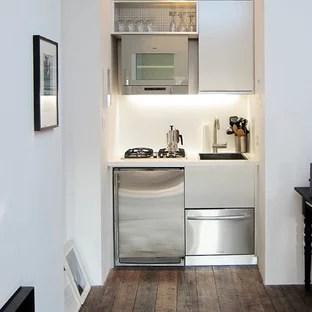 Small Contemporary Kitchen Ideas Single Wall Idea In New