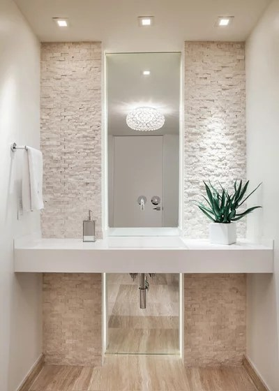 Contemporary Powder Room by 2id Interiors