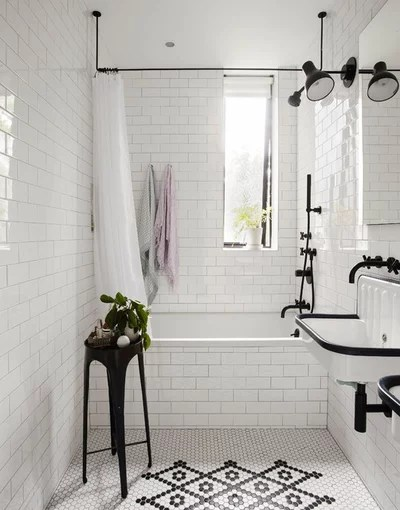 Transitional Bathroom by Office of Architecture
