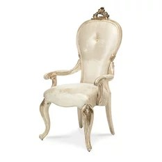 AICO Michael Amini Platine de Royale Arm Chair Set of 2