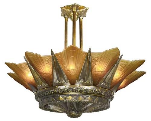 Magnificent Art Deco Chandelier Chandeliers