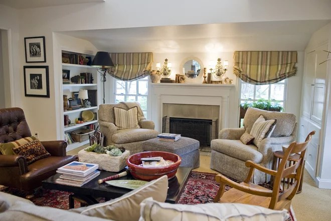 Traditional Living Room by Katherine Robertson Photography
