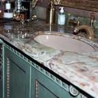 Spanish Tiled Bath Mediterranean Bathroom Santa