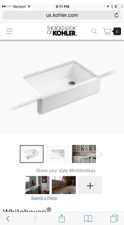 kohler vs rohl shaw apron farmhouse sink