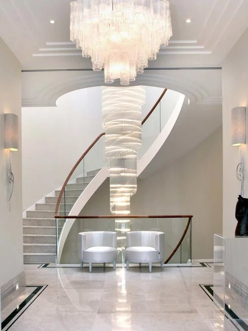Inspiration For A Contemporary Concrete Curved Staircase Remodel In London