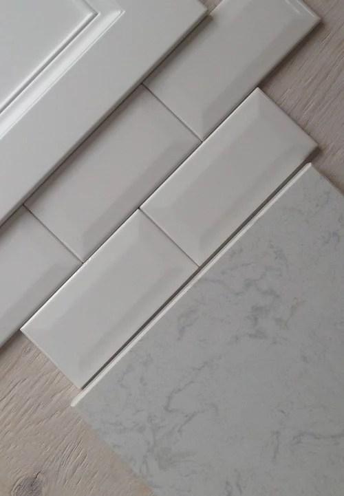 beveled or flat subway tile