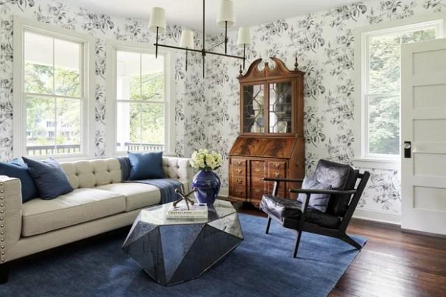 Farmhouse Living Room by Kaminski + Pew