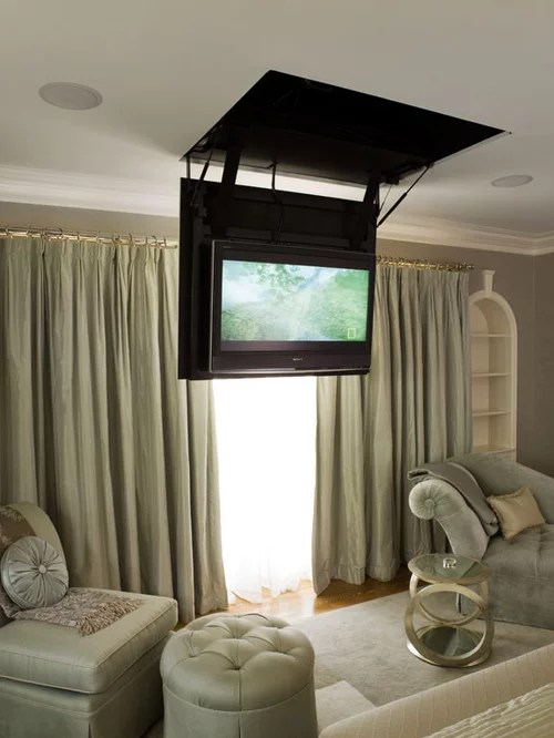 Retractable Tv Home Design Ideas Pictures Remodel And Decor