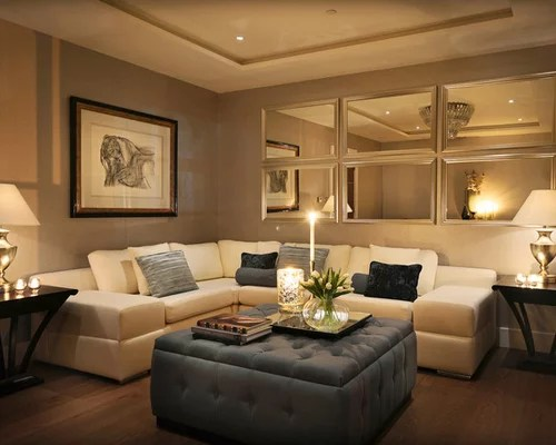 Decorating Simple And Warm Living Room Design Idea With Beige Pastel Colored Walls Dark Brown