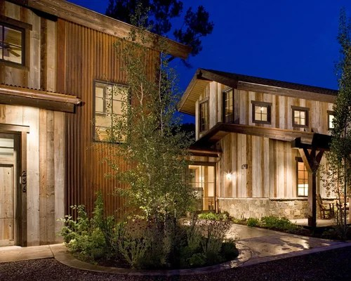 Rusted Metal Siding Home Design Ideas Pictures Remodel