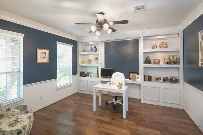 Traditional Home Office by Benjamin Hill Photography