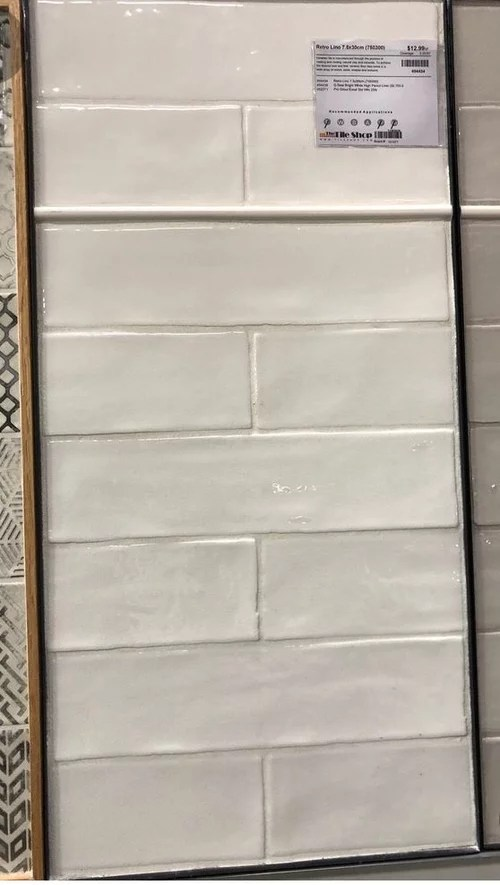 flat subway or textured for master shower