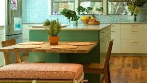 Table Attached To Island Houzz