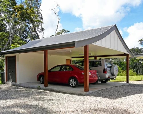 Tropical Garage And Shed Design Ideas Pictures Remodel