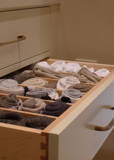 Transitional Closet by Susan Brook Interiors