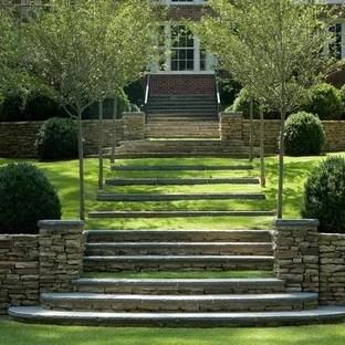 Outdoor Garden Rooms Houzz | Outdoor Garden Under Stairs | Small | Crosstie | Gardening | Landscaping | Lawn