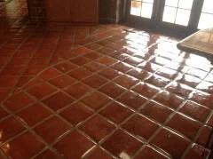 mexican saltillo tile floor thinking