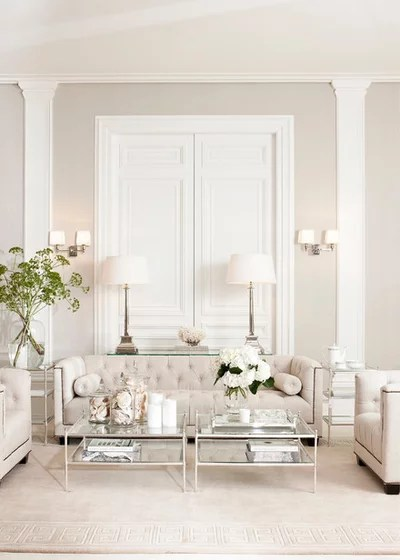 Transitional Living Room by James Said