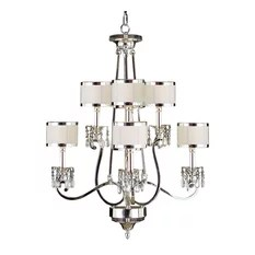 John Richard Eight Light Chandelier Silver Chandeliers